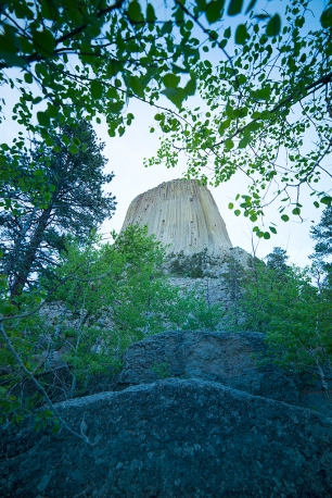 Devils Tower at twilight. © Terry Ownby
