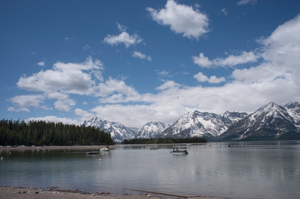 Lunch time at Jackson Lake, Grand Teton National Park. © Terry Ownby
