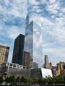 Eternal reflections at the 9-11 Memorial in lower Manhattan, New York.