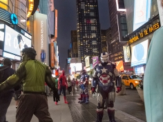 Super Heros roaming Times Square...of course they all are broke and want your dollars for their photo.