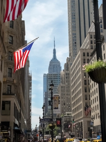 Empire State Building looking south on 5th Avenue & E. 45th Street.