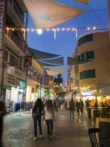 Saturday night Christmas shopping on Ledras Street, Nicosia, Cyp
