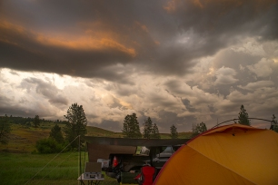 Storm at Base Camp.