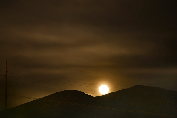 Super Moon rising over Camelback Mountain, Pocatello, Idaho.