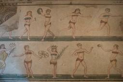 Roman Gymnists in Bikinis