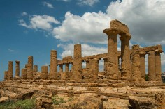 Temple of Hera at Valley of the Temples, Agrigento, SI, Italy.