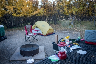 Camping at Mesa Verde National Park, Cortez, CO.