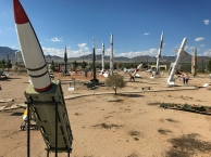 Missile Park at WSMR Museum.