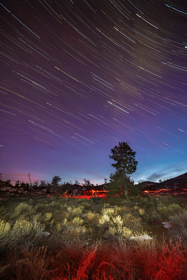 Star trails at Craters of the Moon National Monument and International Dark Sky Park.