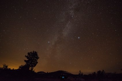 Milky Way at Craters of the Moon National Monument.