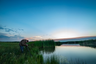 Jacob Valdon working at Market Lake Wildlife Refuge, Idaho.