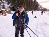 Dr. Chuck Peterson, early morning on the Madison River, YNP.